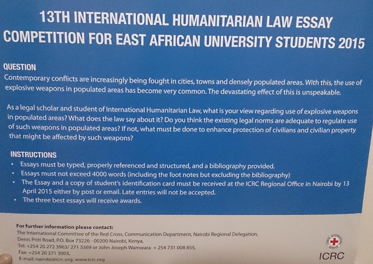 th international humanitarian law essay competition for east expiry date