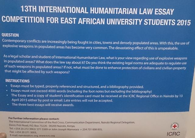 th international humanitarian law essay competition for east  13th international humanitarian law essay competition for east african university students 2015 b jpg