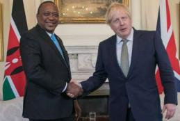 President Kenyatta with UK PM Boris Johnson